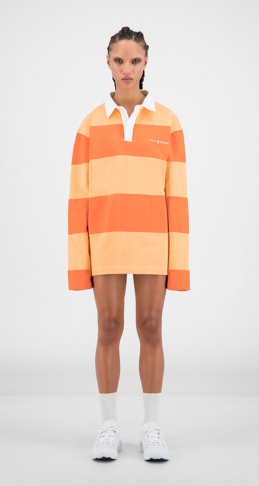 Daily Paper - Flame Orange Stripe Apolo - Women Front