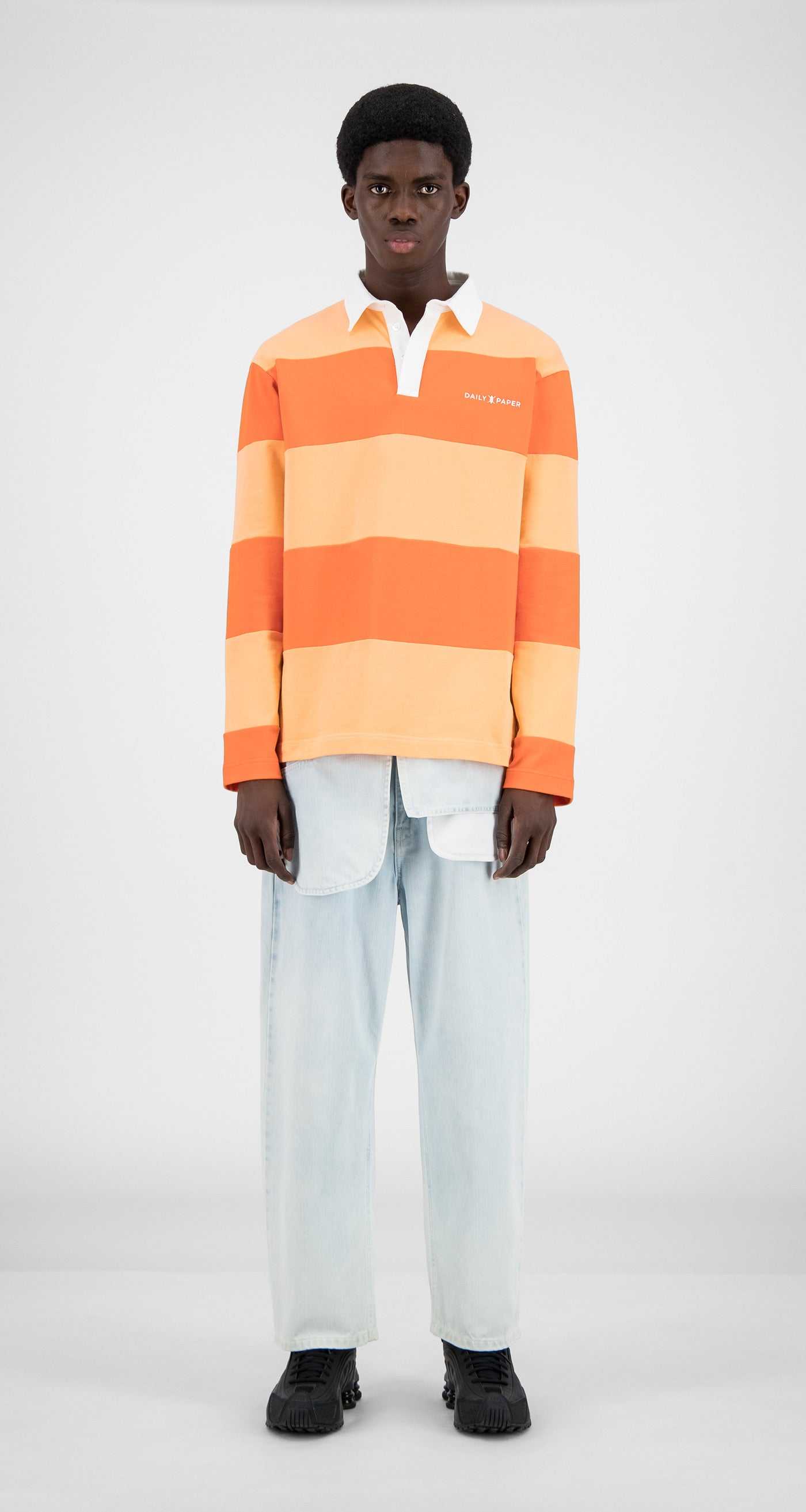 Daily Paper - Flame Orange Stripe Apolo - Men Front