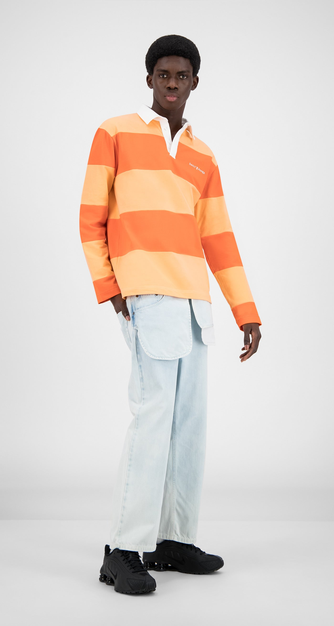 Daily Paper - Flame Orange Stripe Apolo - Men