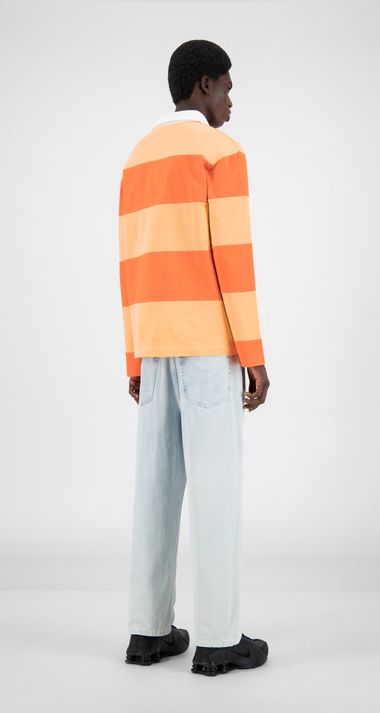 Daily Paper - Flame Orange Stripe Apolo - Men Rear