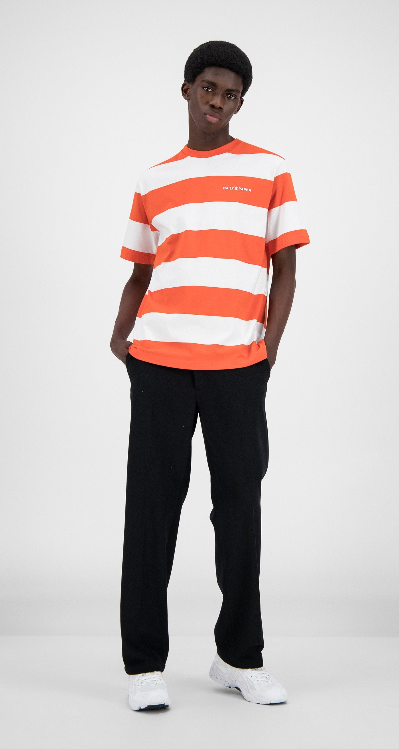 Daily Paper - Flame Orange Stripe T-Shirt - Men