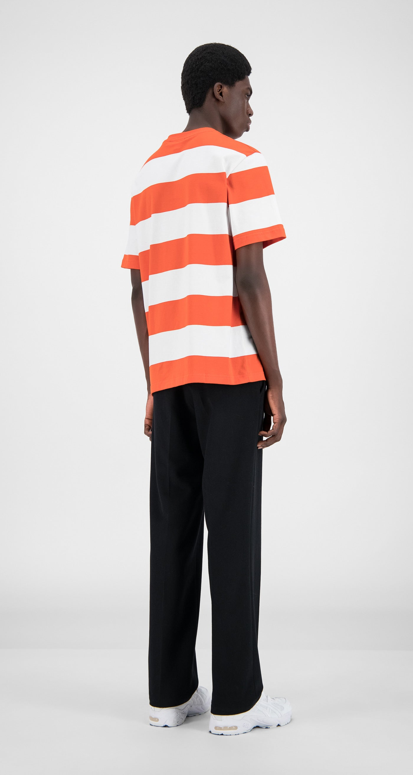 Daily Paper - Flame Orange Stripe T-Shirt - Men Rear