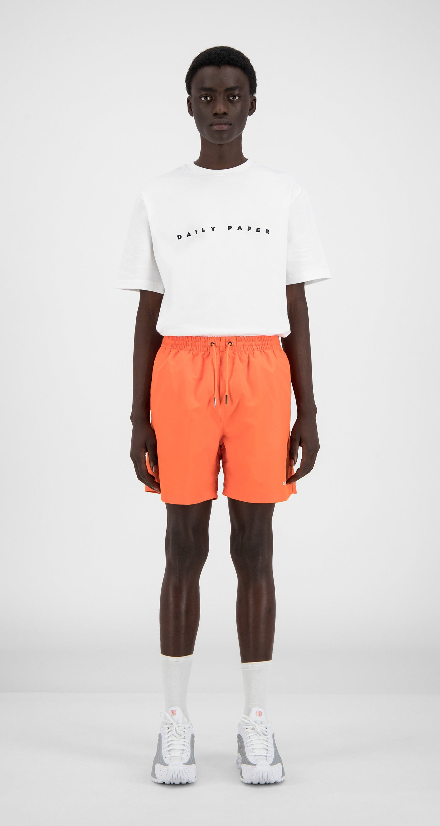 Daily Paper - Flame Orange Water Activated Swimshorts - Men Front