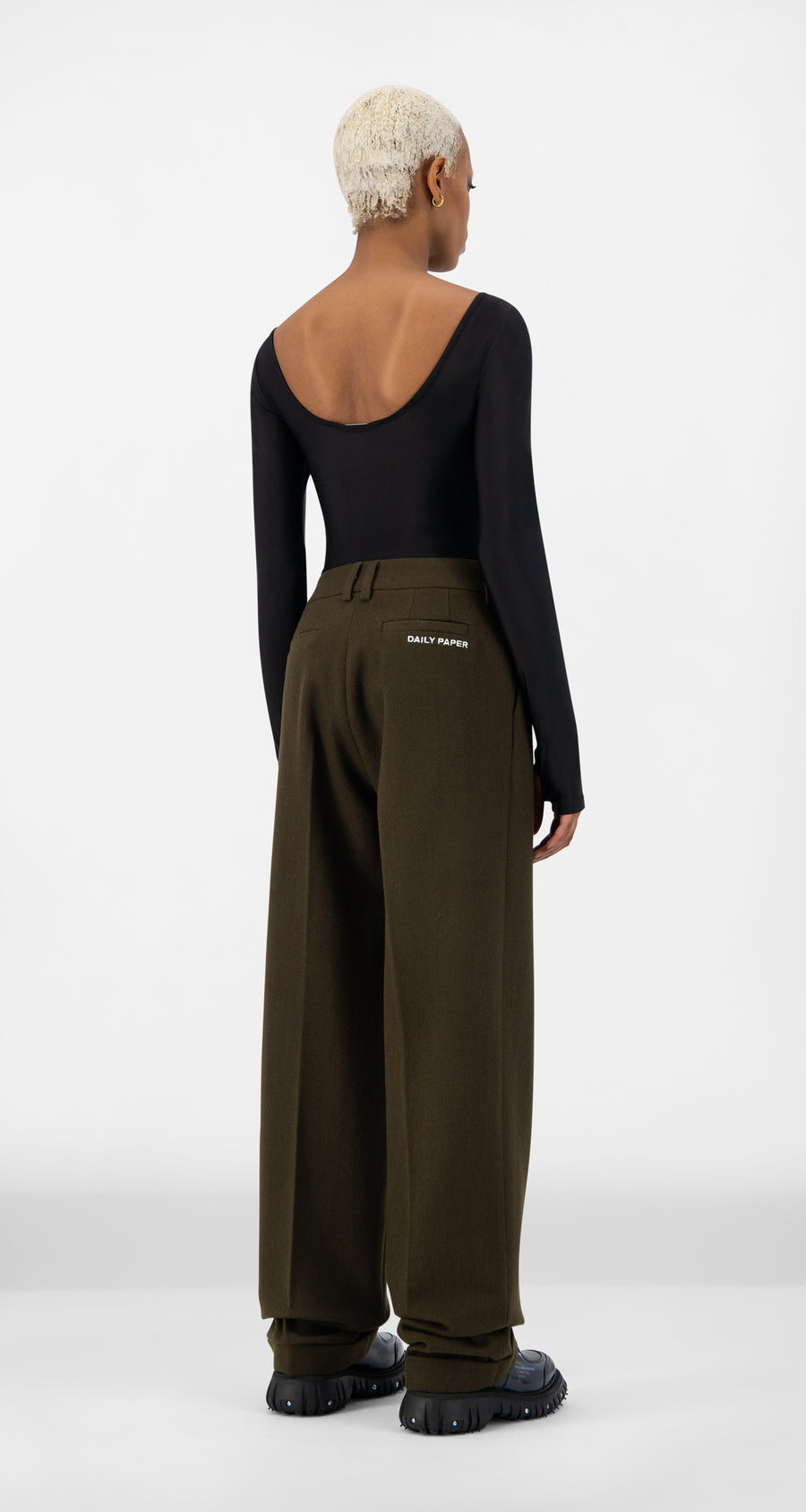 Daily Paper - Forest Brown Esuit Pants - Women Rear