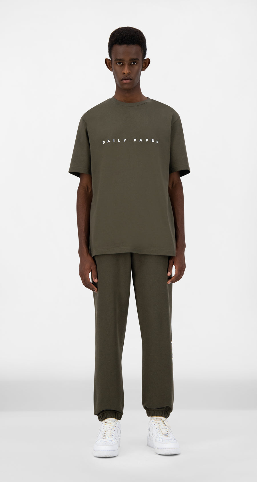 Daily Paper - Forest Green Alias T-Shirt - Men Front