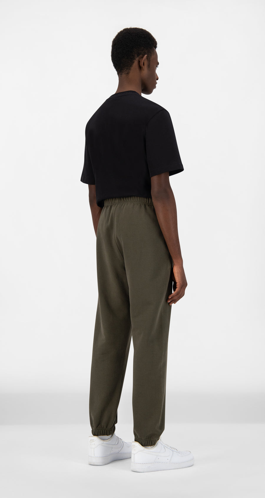 Daily Paper - Forest Green Alias Track Pants - Men Rear