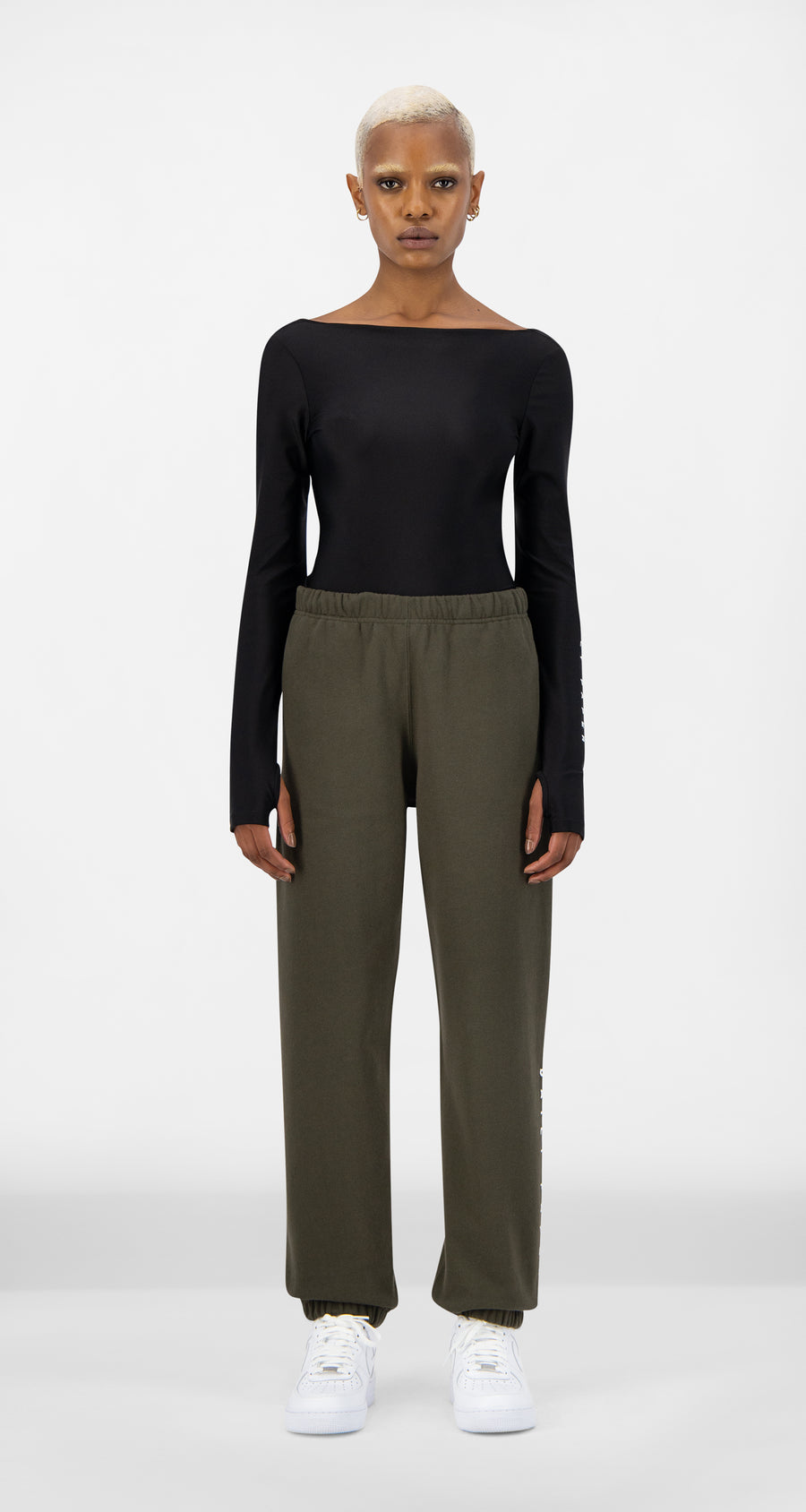 Daily Paper - Forest Green Alias Track Pants - Women Front