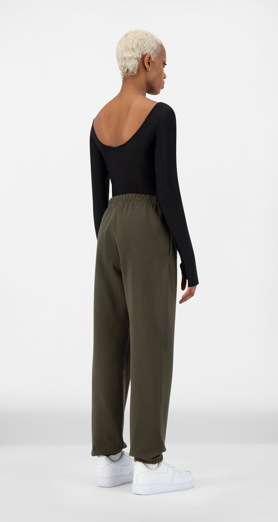 Daily Paper - Forest Green Alias Track Pants - Women Rear