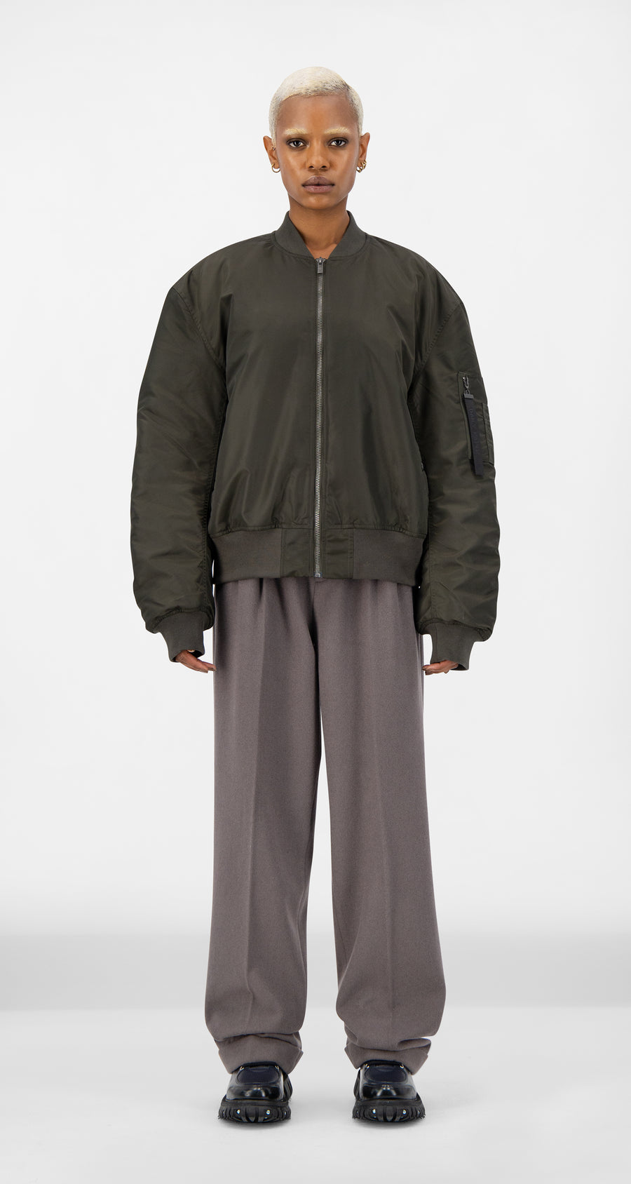 Daily Paper - Forest Green Ebomb Jacket - Women Front