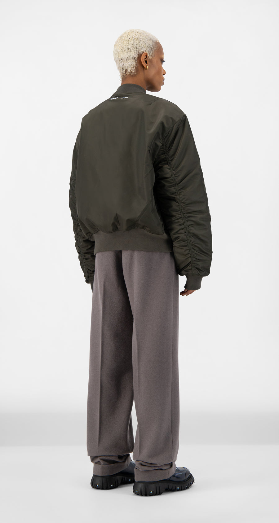 Daily Paper - Forest Green Ebomb Jacket - Women Rear