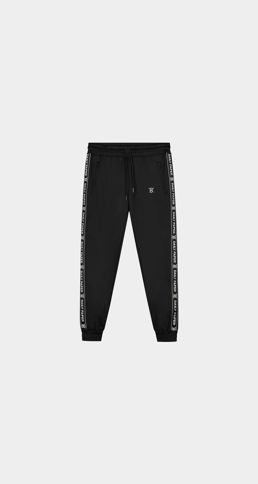Daily Paper - Black Tape Logo Track Pants - Women Front