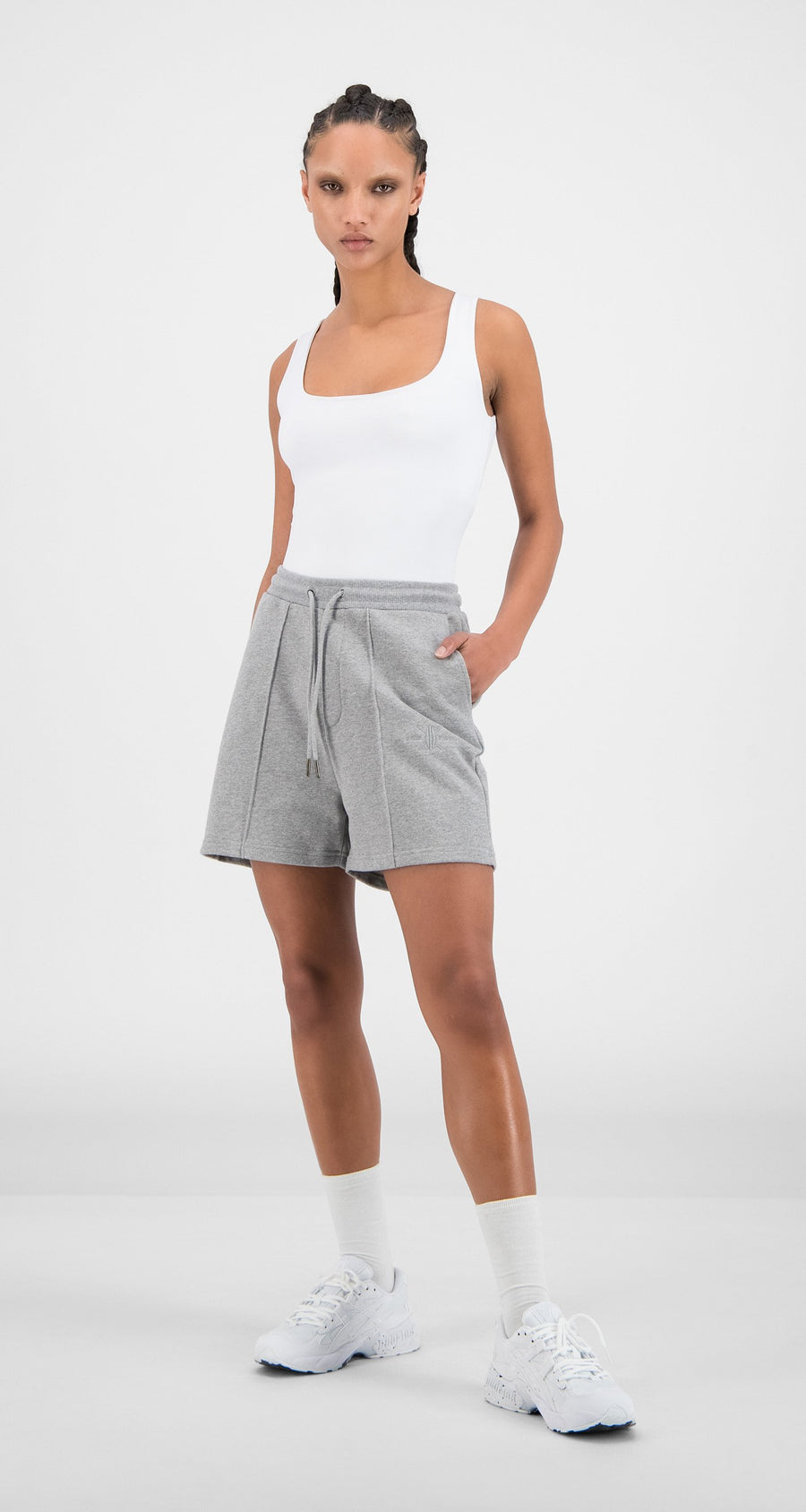 Daily Paper - Grey Hifa Shorts - Women Front
