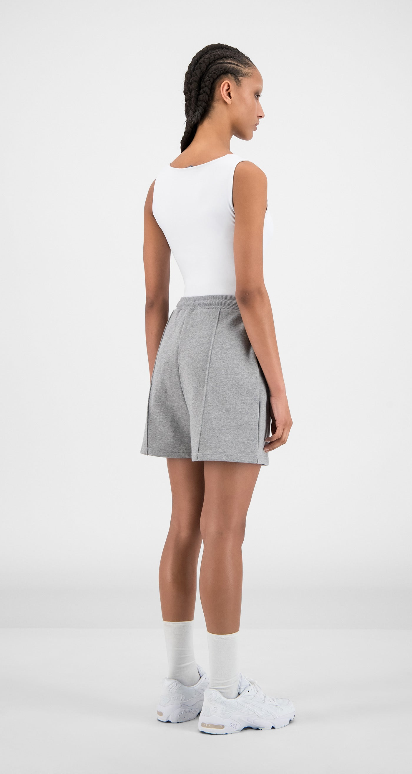 Daily Paper - Grey Hifa Shorts - Women Rear