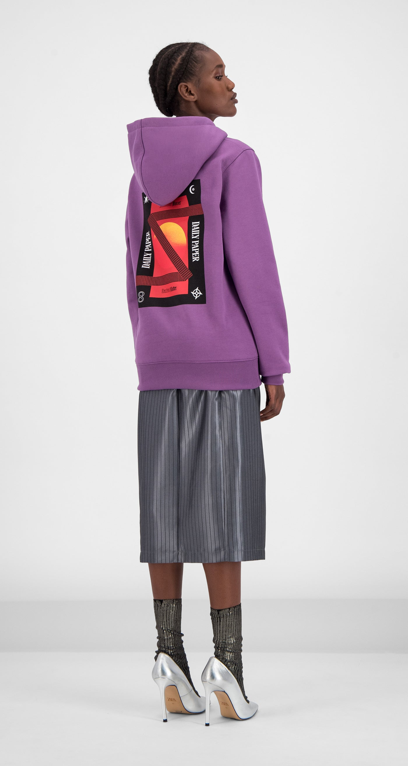 Daily Paper - Grape Gacrush Hoody Women Rear