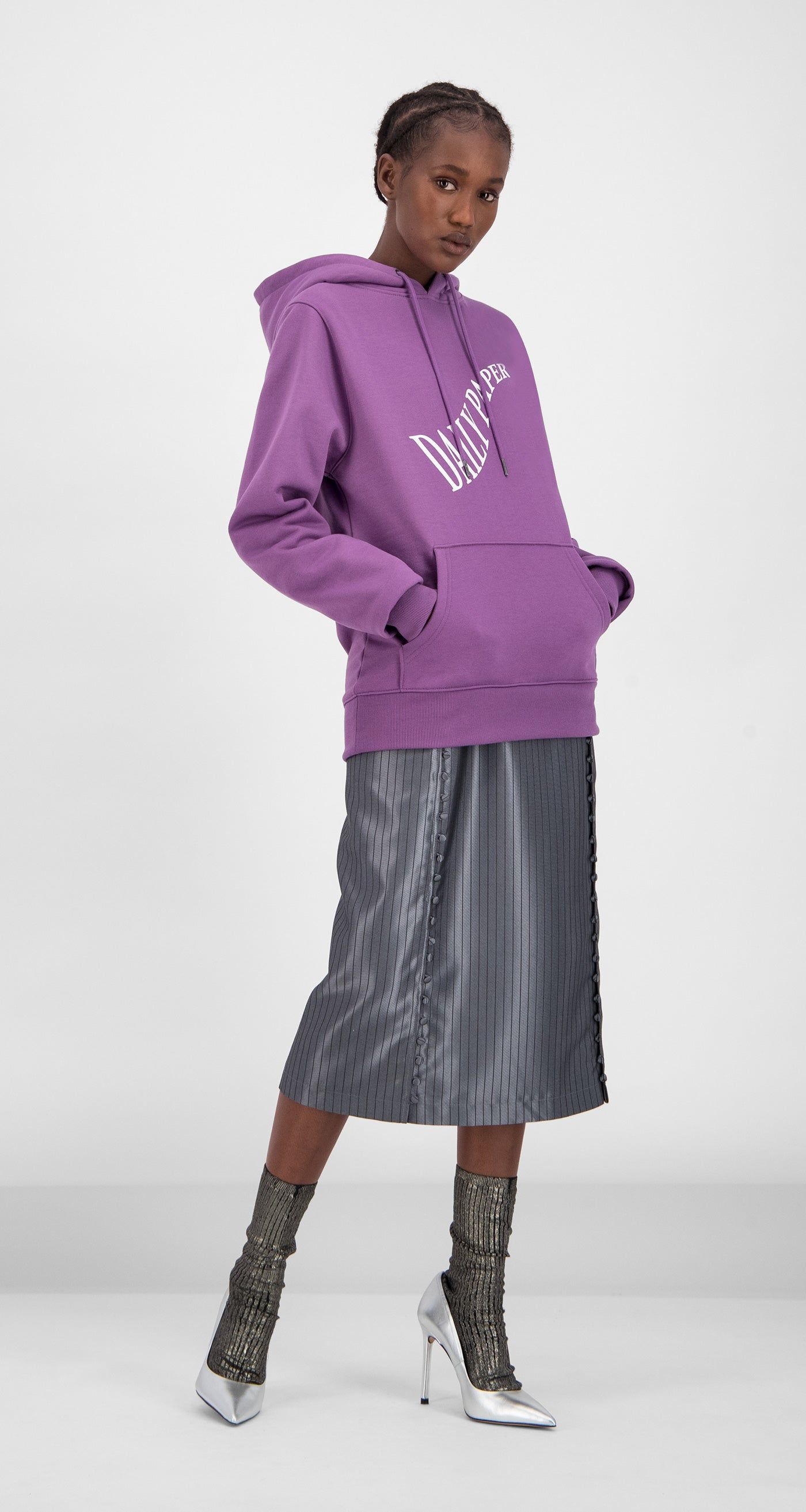 Daily Paper - Grape Gacrush Hoody Women Front