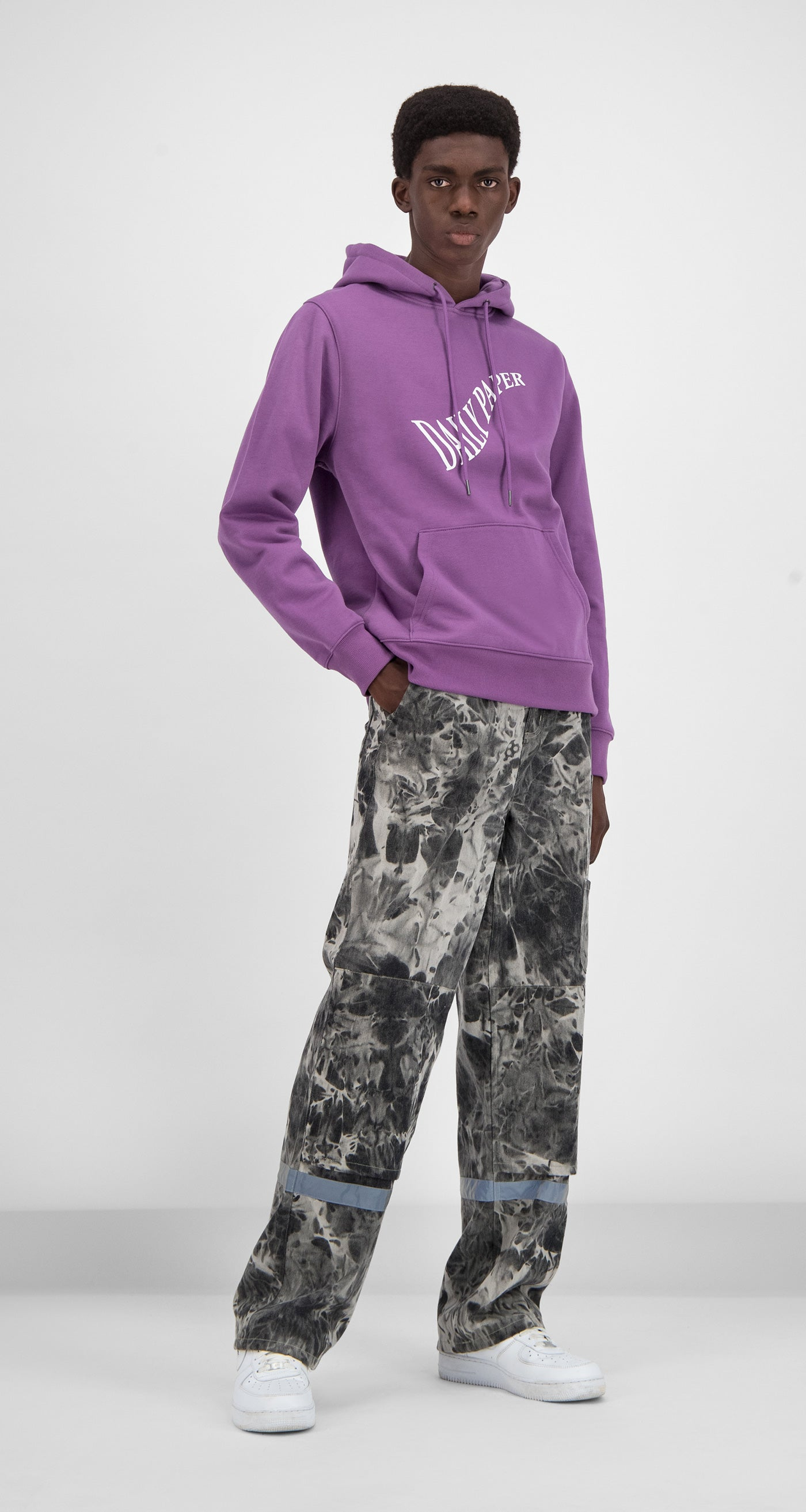 Daily Paper - Grape Gacrush Hoody Men Front