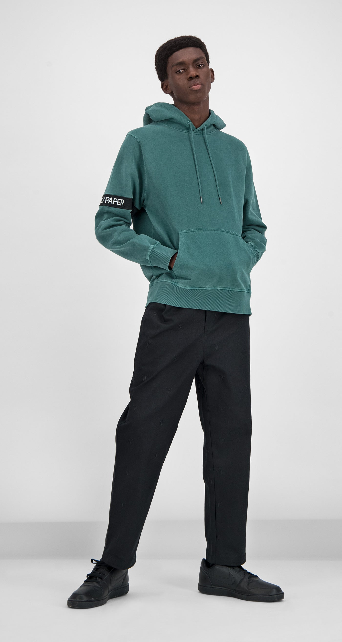 Daily Paper - Green Washed Captain Hoody Men
