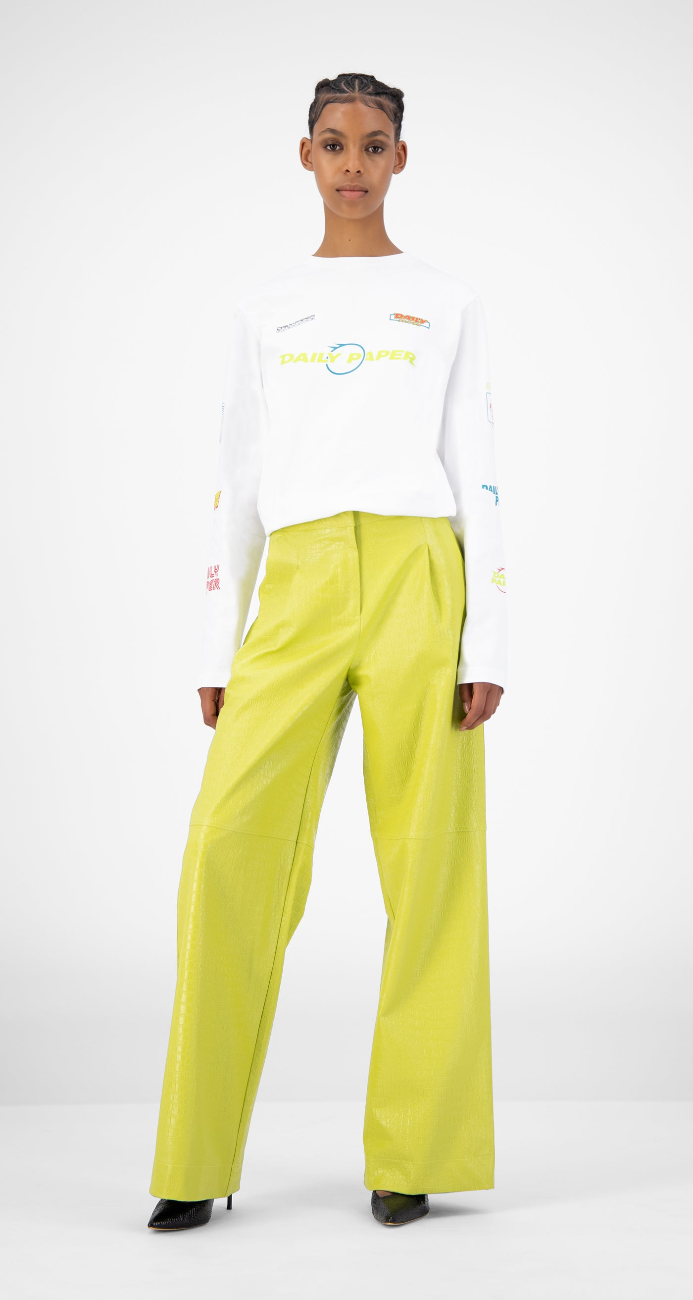 Daily Paper - Green Croco Jalla Pants - Women