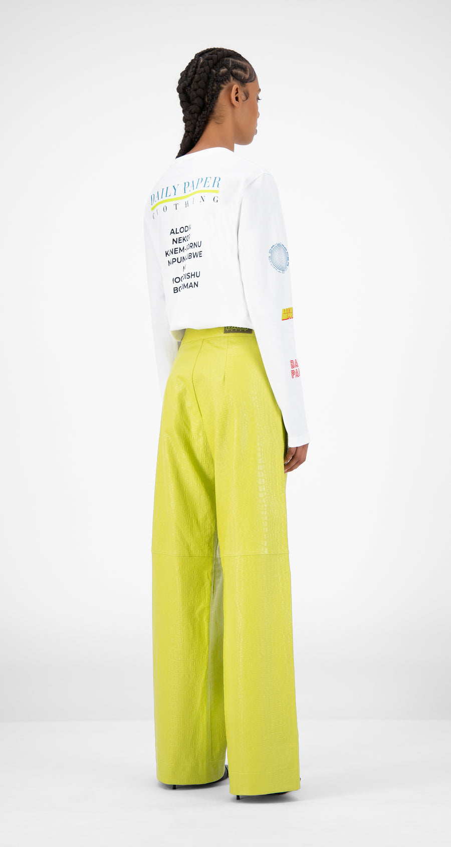 Daily Paper - Green Croco Jalla Pants - Women Rear