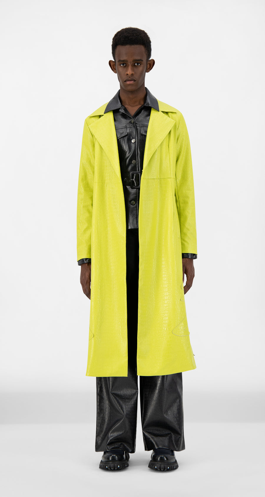 Daily Paper - Green Croco Jedoun Coat - Men Front