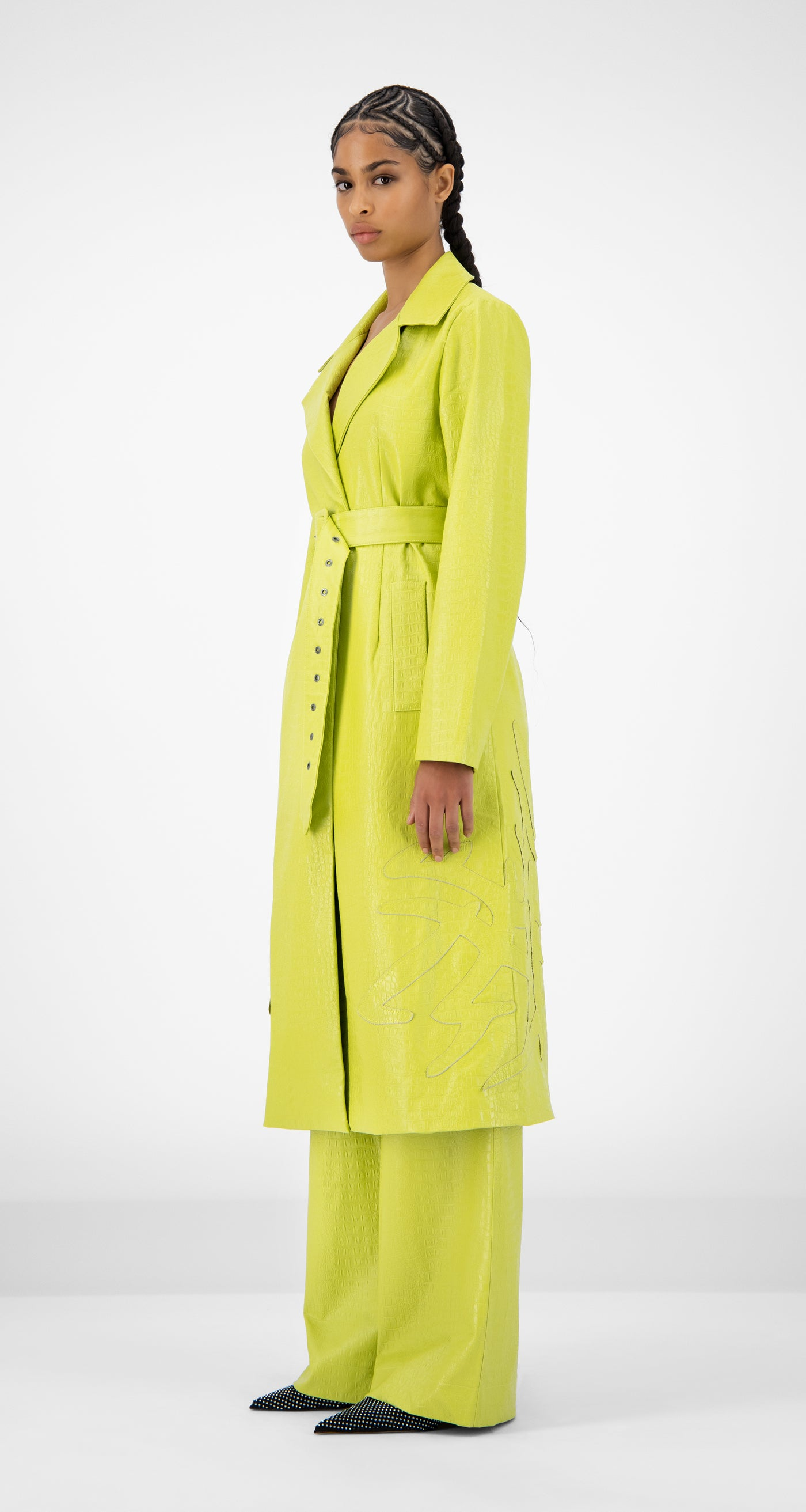 Daily Paper - Green Croco Jedoun Coat - Women