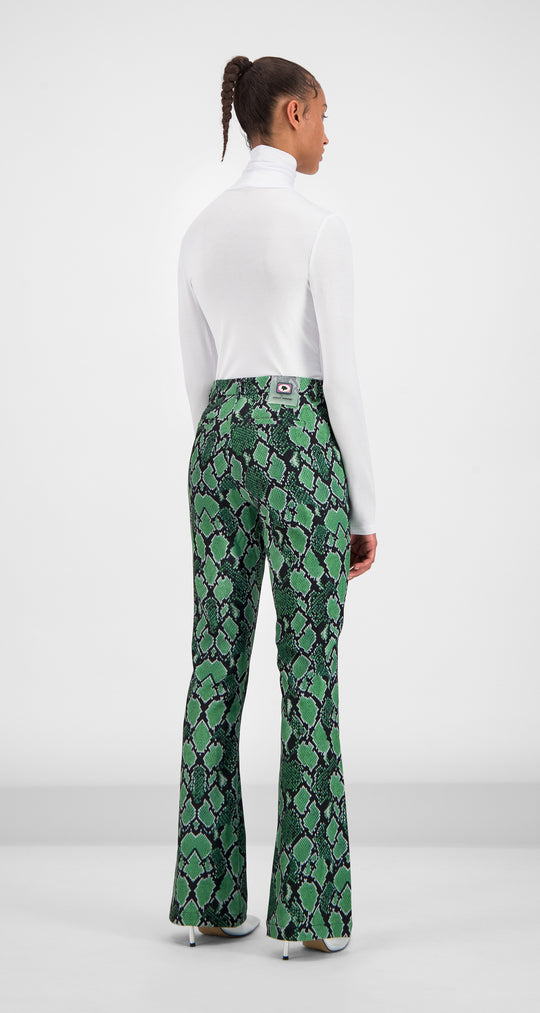 Daily Paper - Green Snake Gady Pants Women Rear