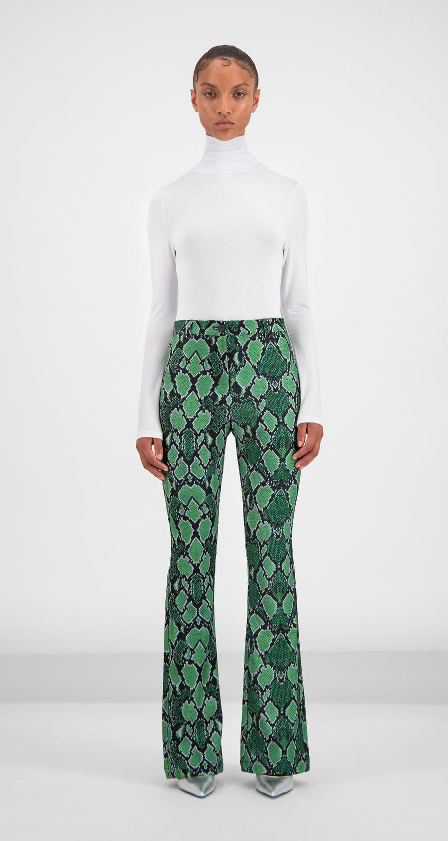 Daily Paper - Green Snake Gady Pants Women Front