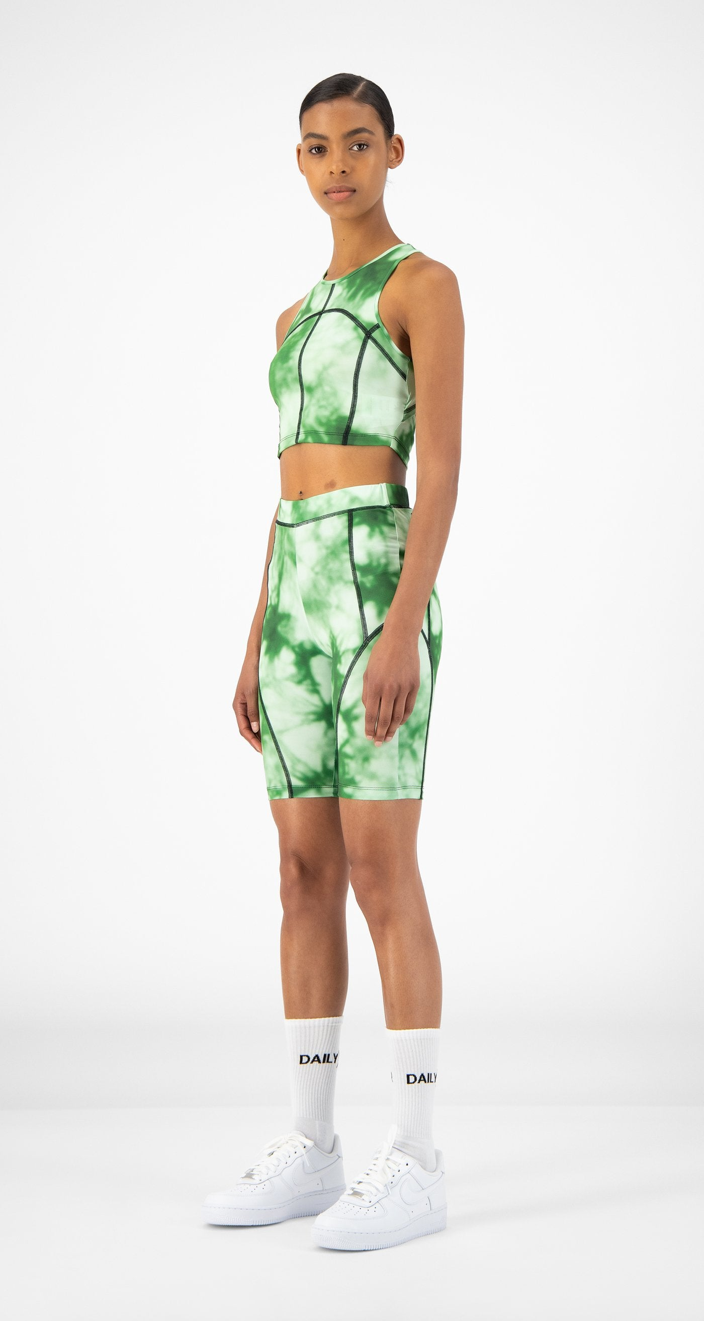 Daily Paper - Green Tie Dye Resymetric Vest - Women
