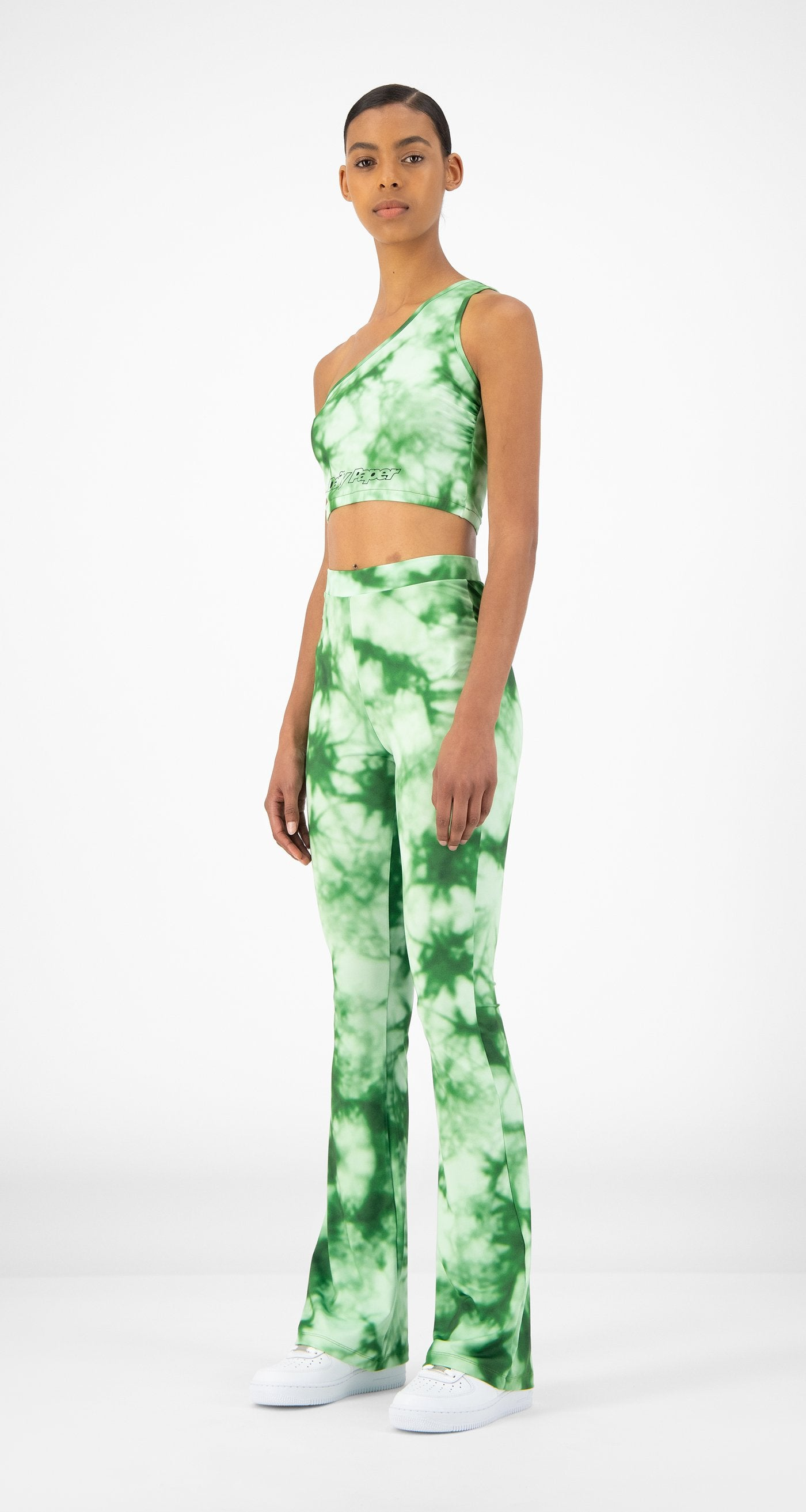Daily Paper - Green Tie Dye Resymetric Top - Women