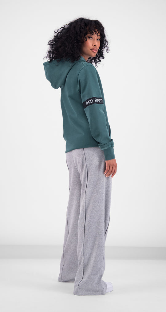 Daily Paper - Green Washed Captain Hoody Women Rear