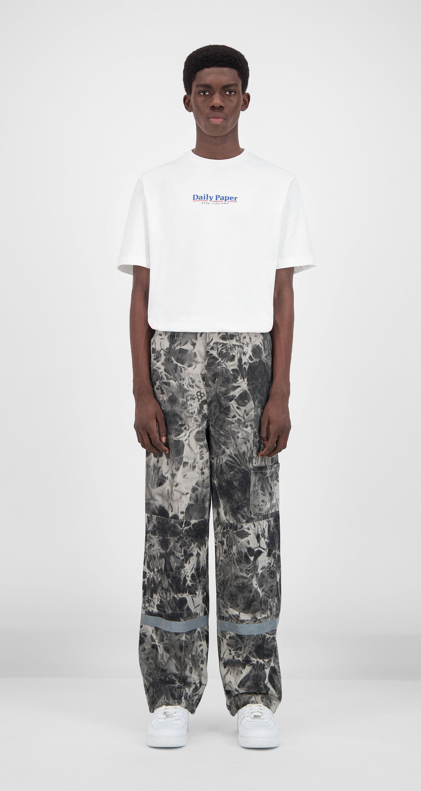 Daily Paper - Grey Tie Dye Gefac Pants Men Front