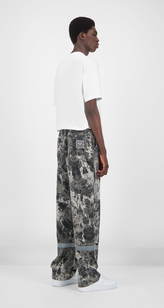 Daily Paper - Grey Tie Dye Gefac Pants Men Rear