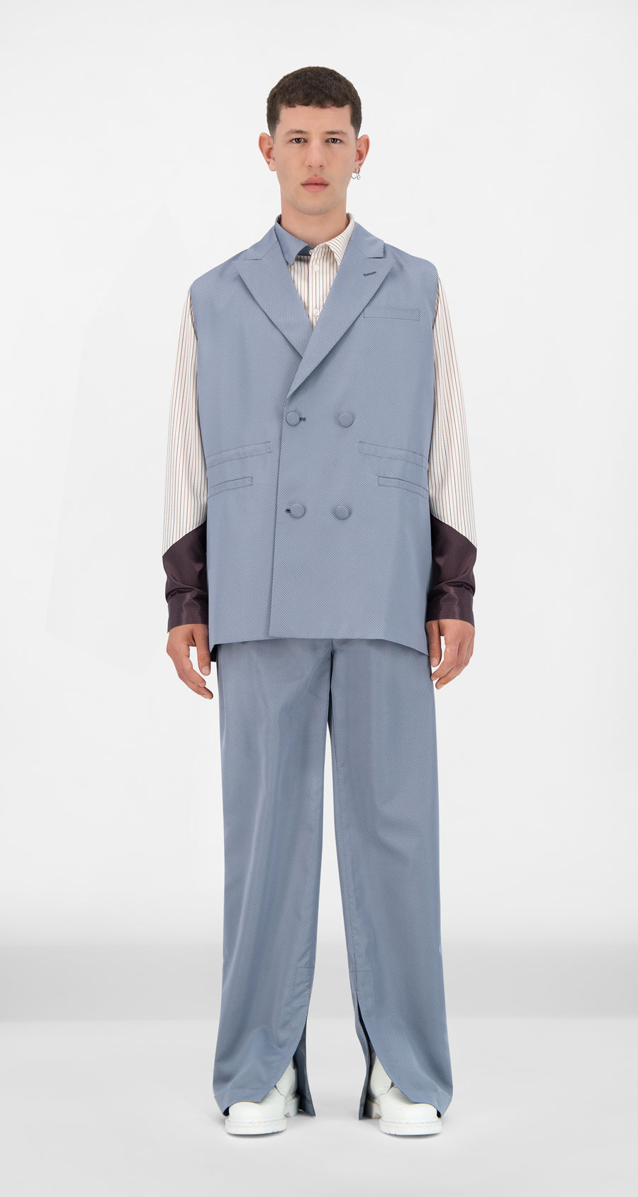 Daily Paper - Grey Blue Jether Vest - Men Front