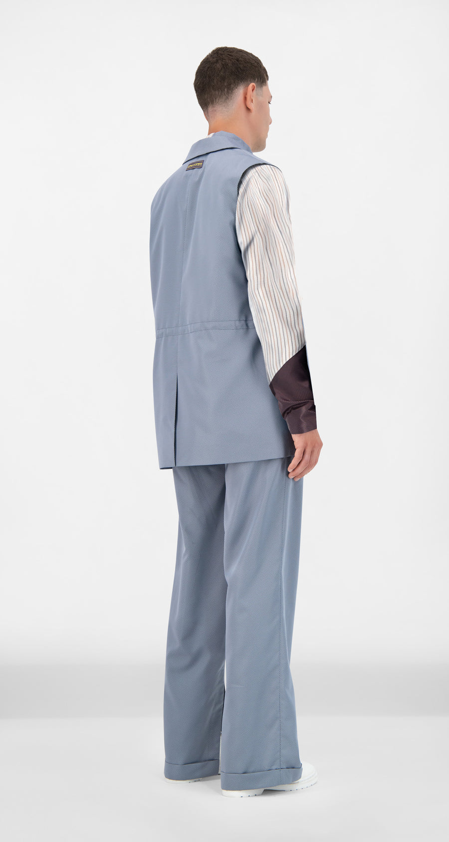 Daily Paper - Grey Blue Jether Vest - Men Rear