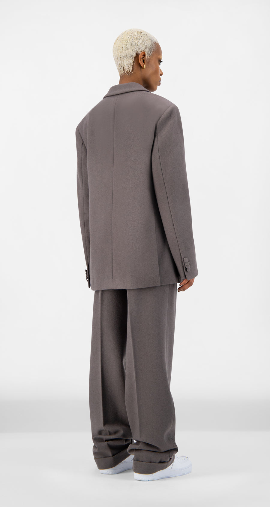 Daily Paper - Grey Eheck Blazer - Women Rear