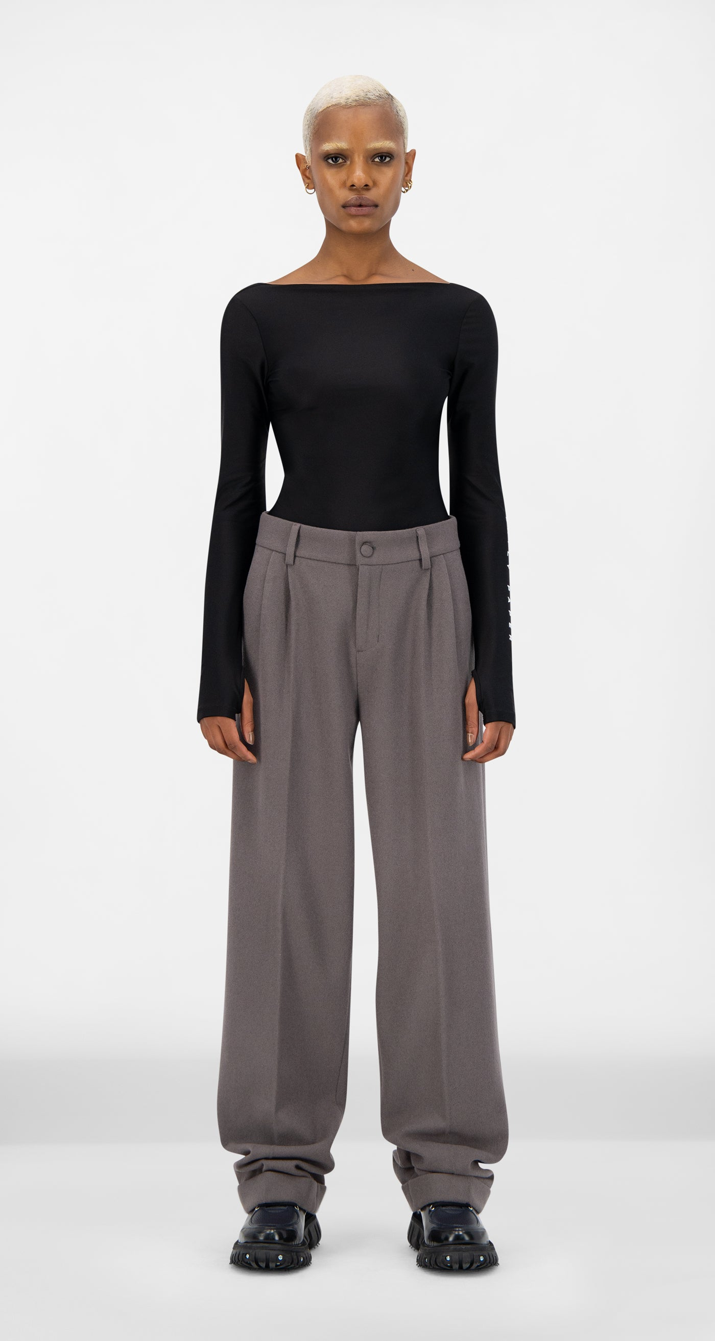 Daily Paper - Grey Esuit Pants - Women Front