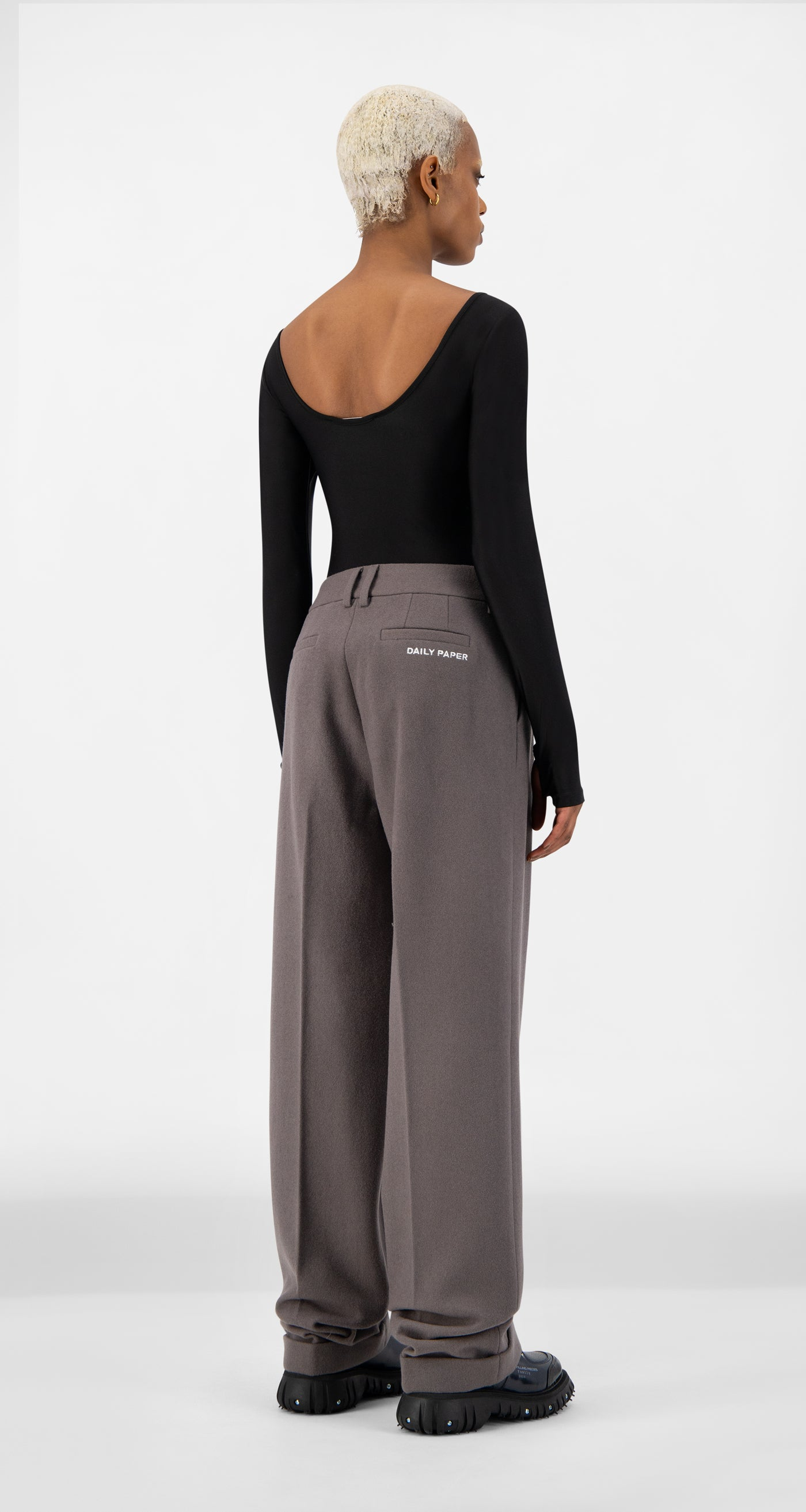 Daily Paper - Grey Esuit Pants - Women Rear