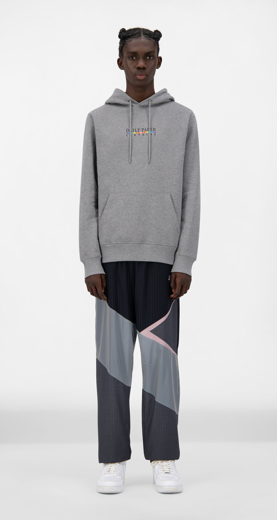 Daily Paper - Grey Jamel Hoody - Men Front