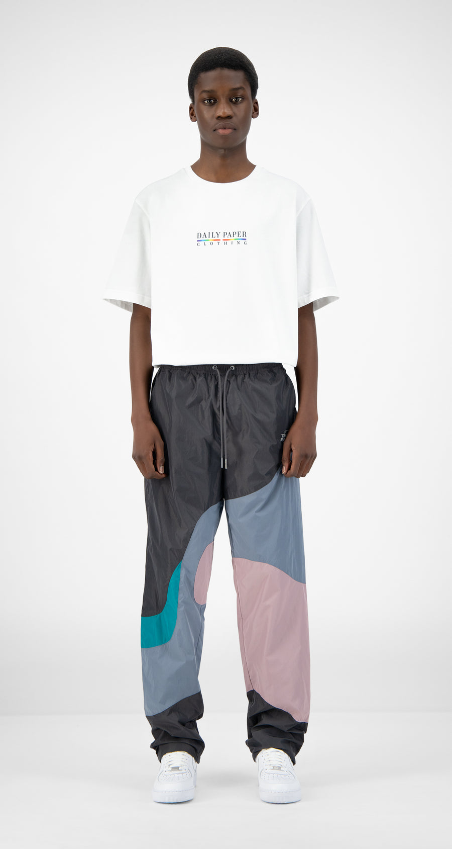 Daily Paper - Grey Lilac Teal Juka Pants - Men Front