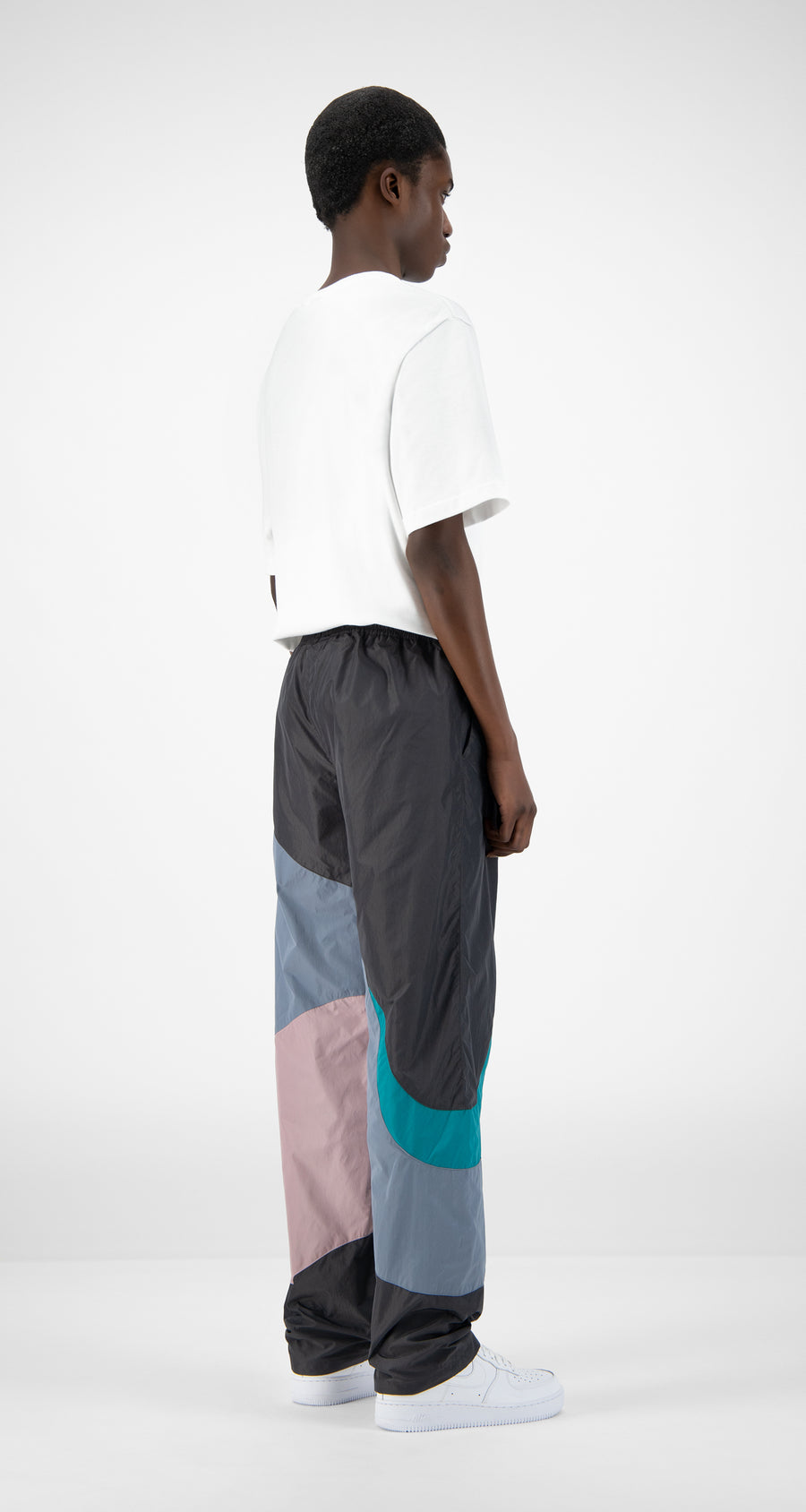 Daily Paper - Grey Lilac Teal Juka Pants - Men Rear