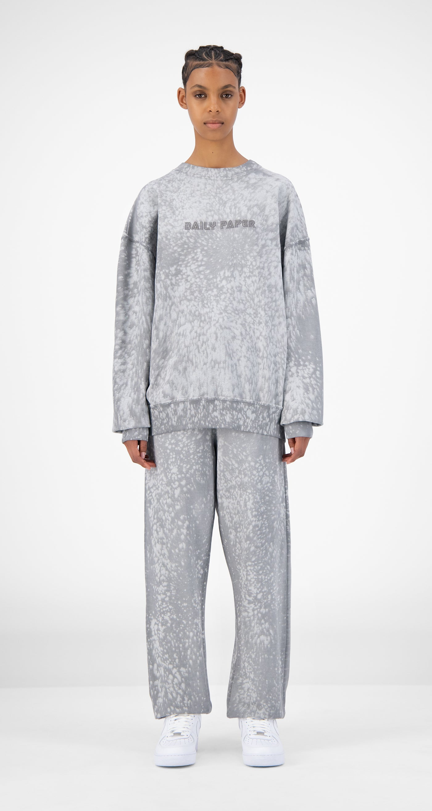 Daily Paper - Grey Violet Jerspla Sweater - Women Front