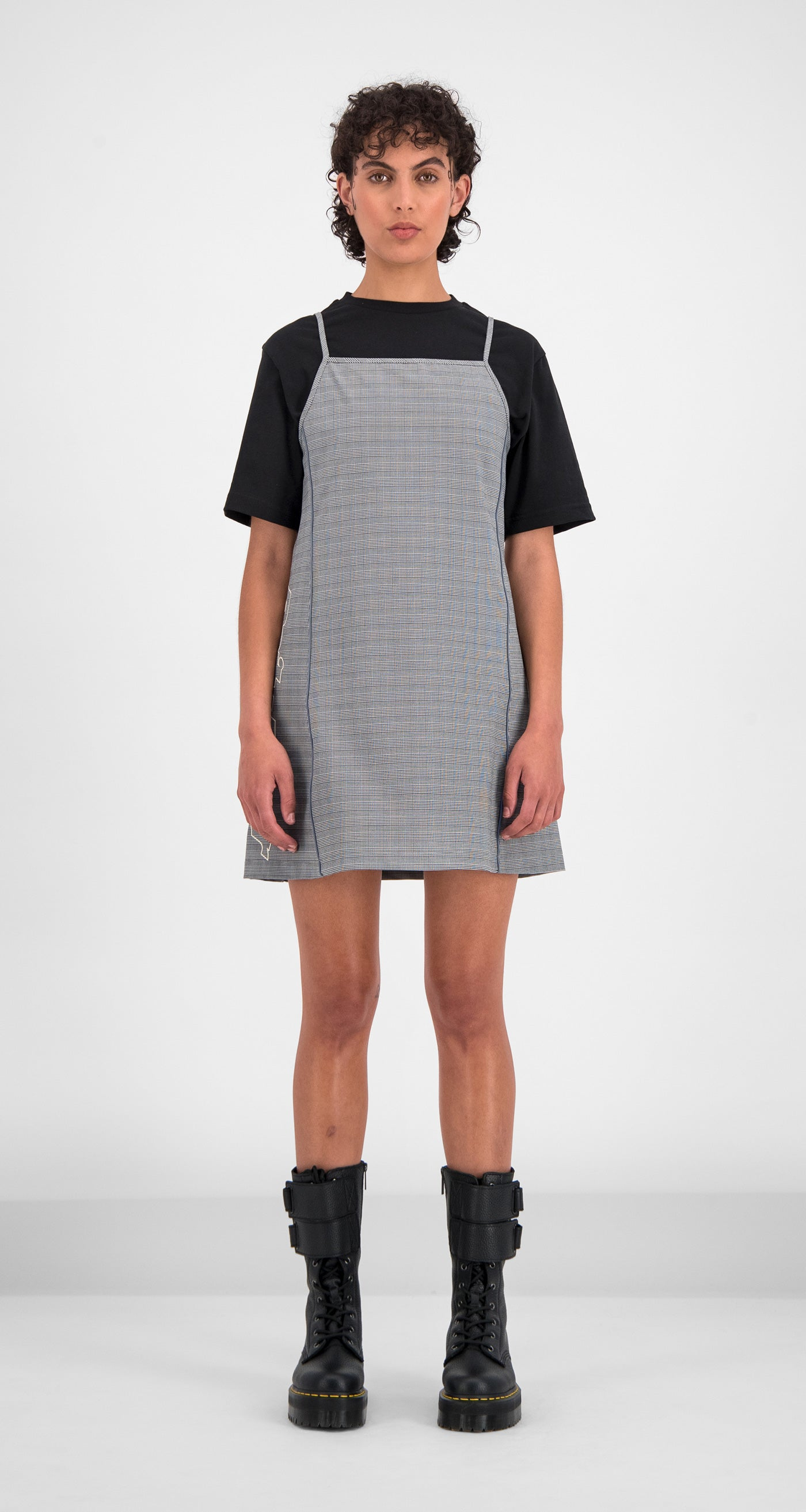 Daily Paper - Black Checked Gelicia Dress Women