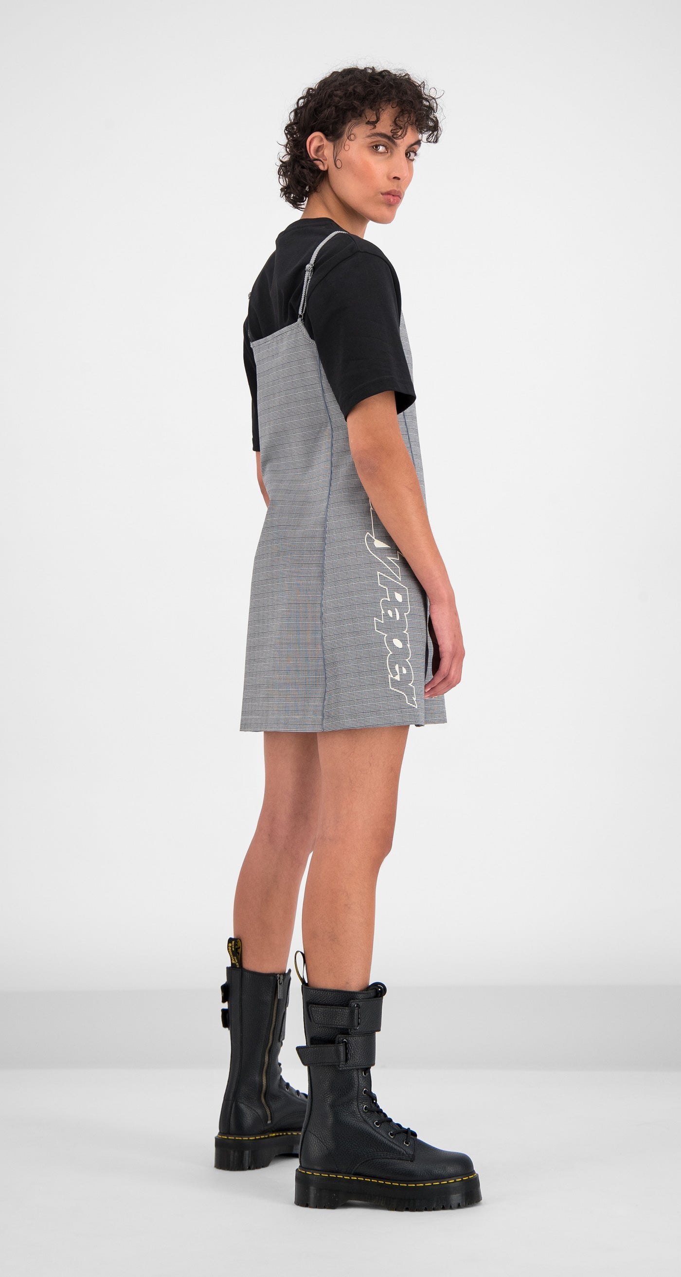 Daily Paper - Black Checked Gelicia Dress Women Rear