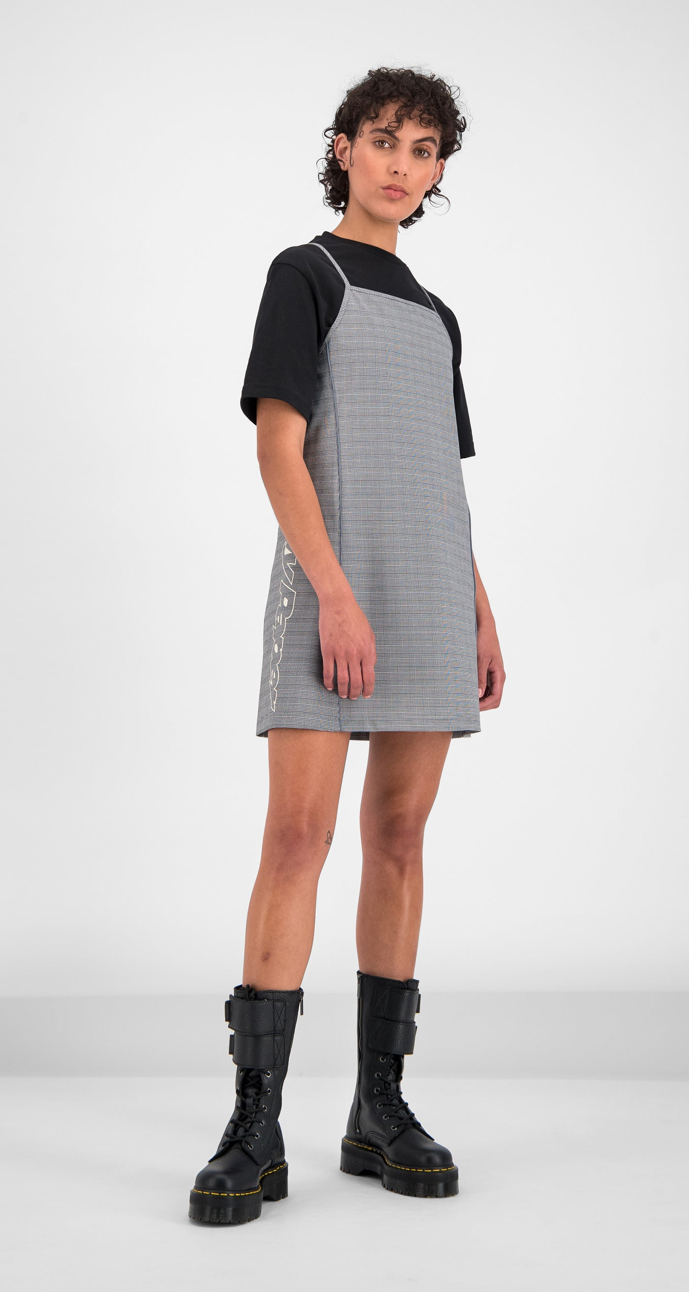 Daily Paper - Black Checked Gelicia Dress Women Front