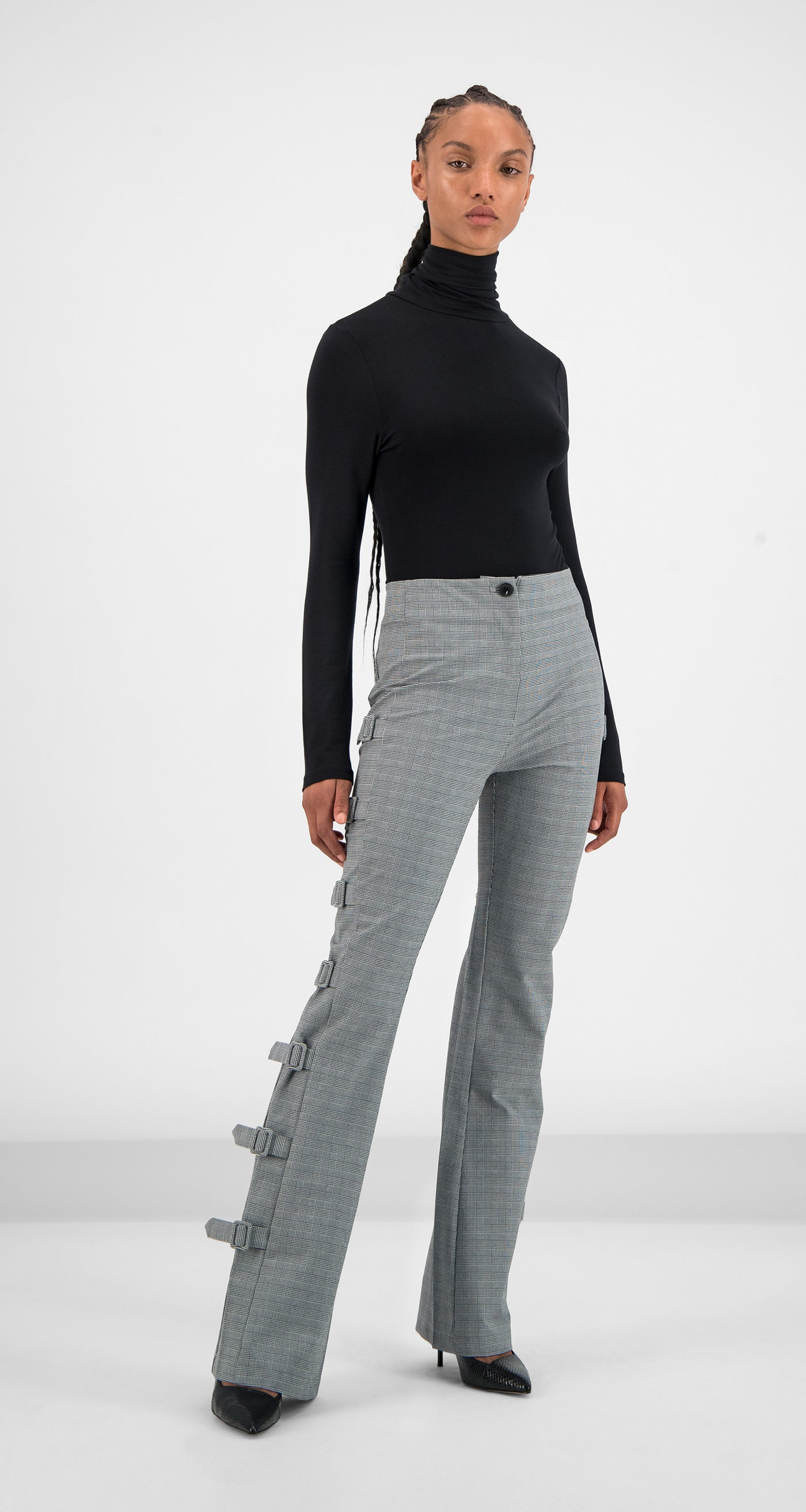 Daily Paper - Grey Checked Geline Pants Women