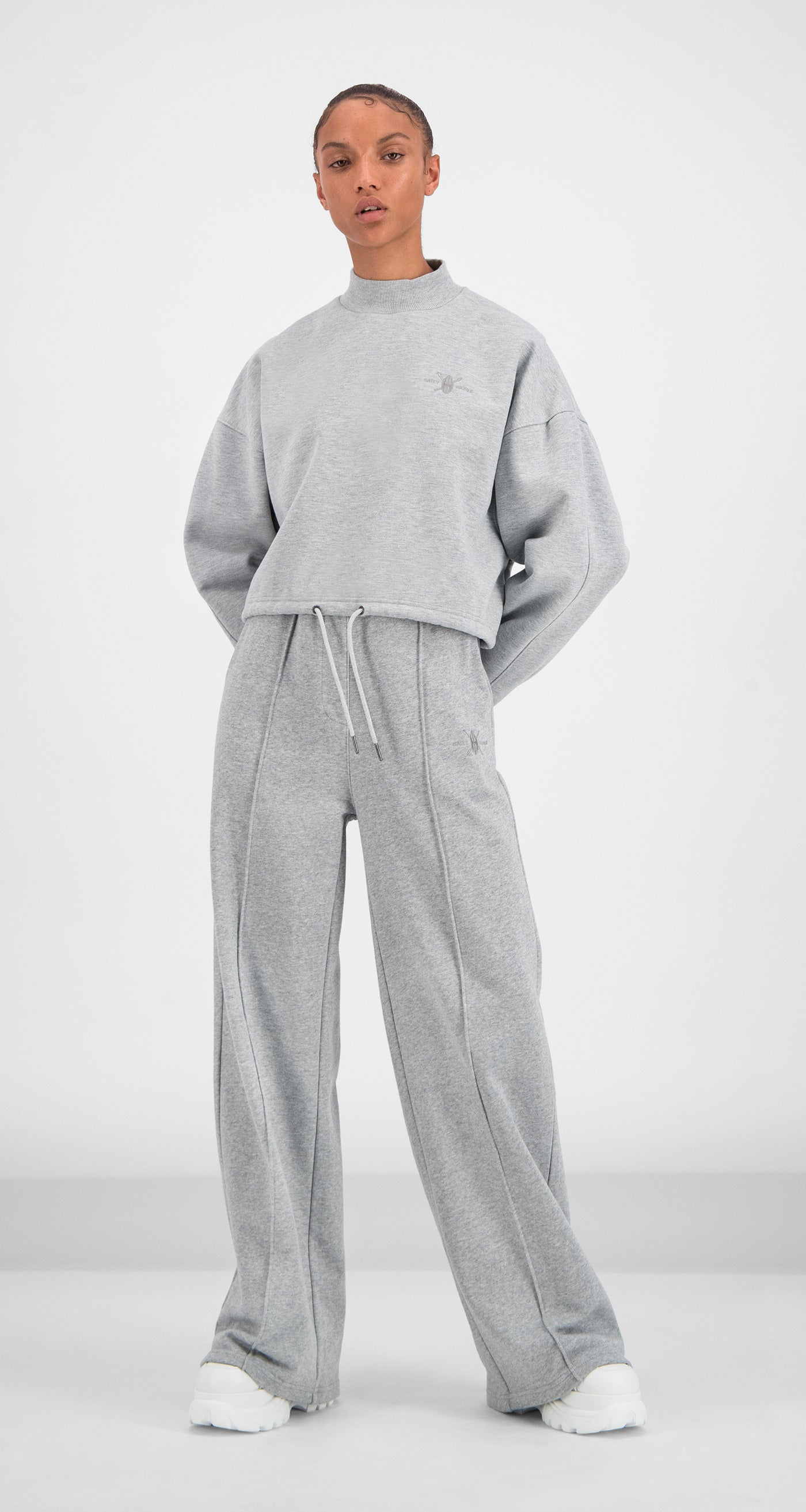 Daily Paper - Grey Gleogru Sweater Women Front