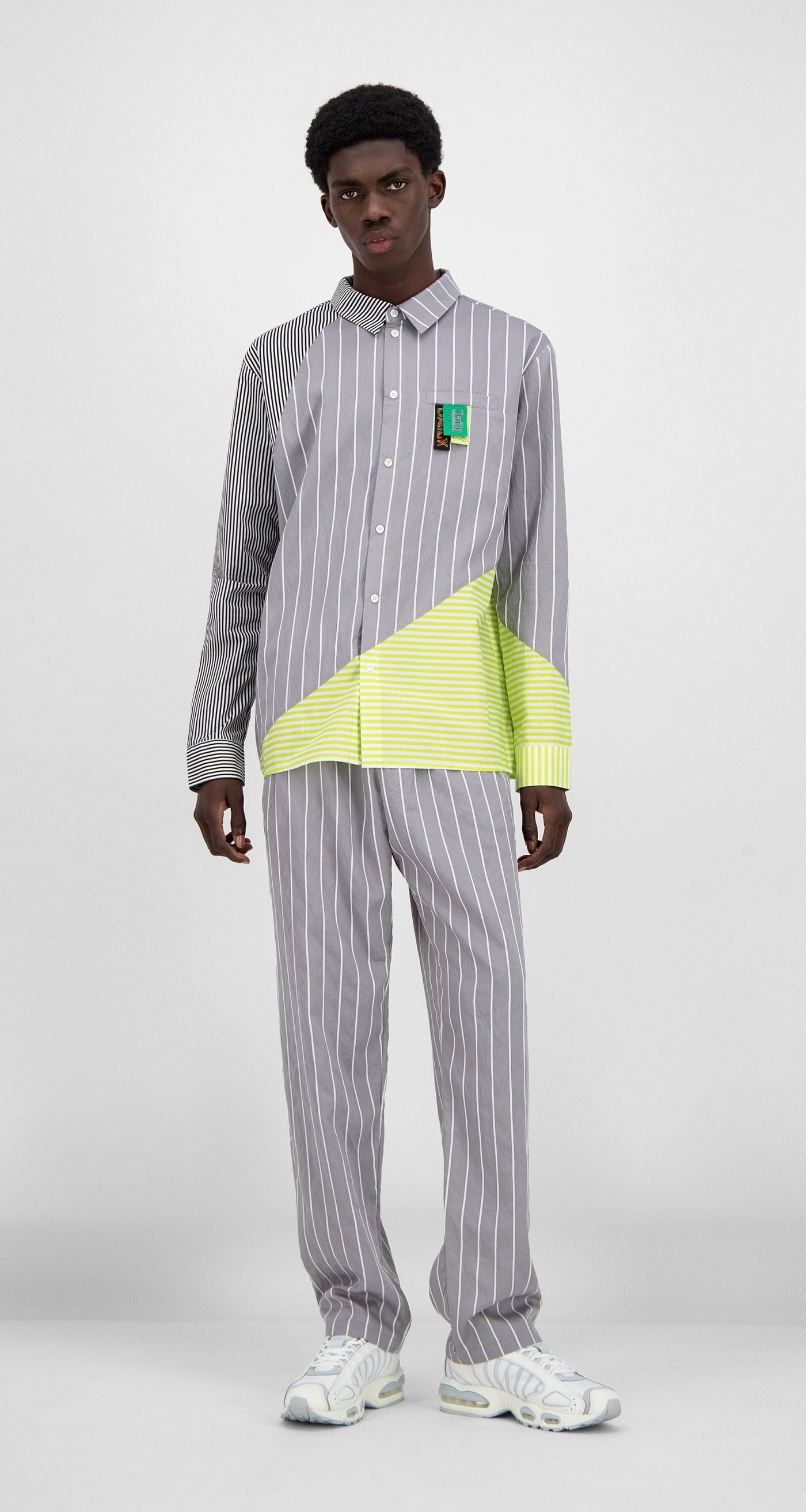 Daily Paper - Grey Striped Hadee Shirt - Men