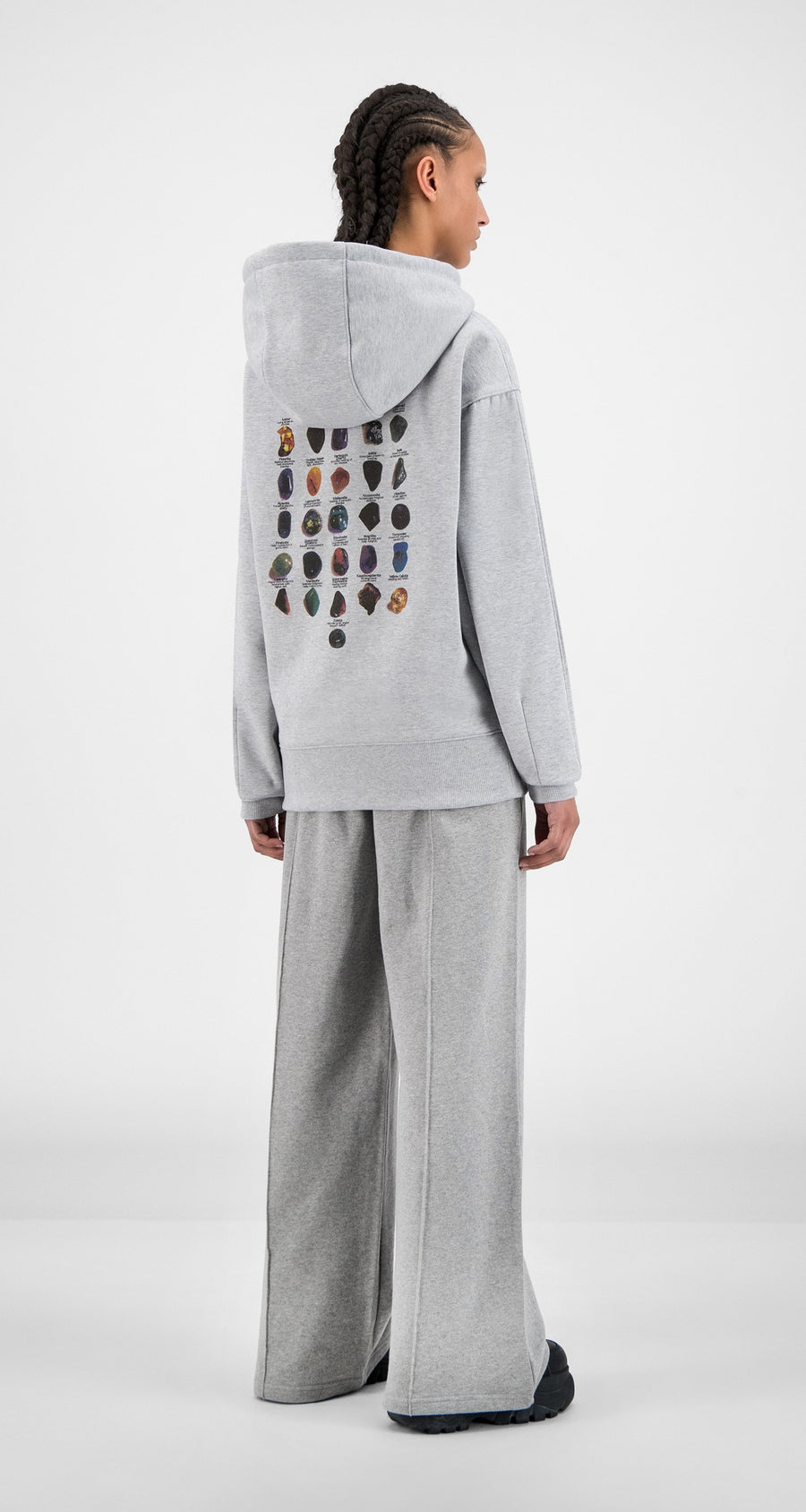 Daily Paper - Grey Halgra Hoody - Women Rear