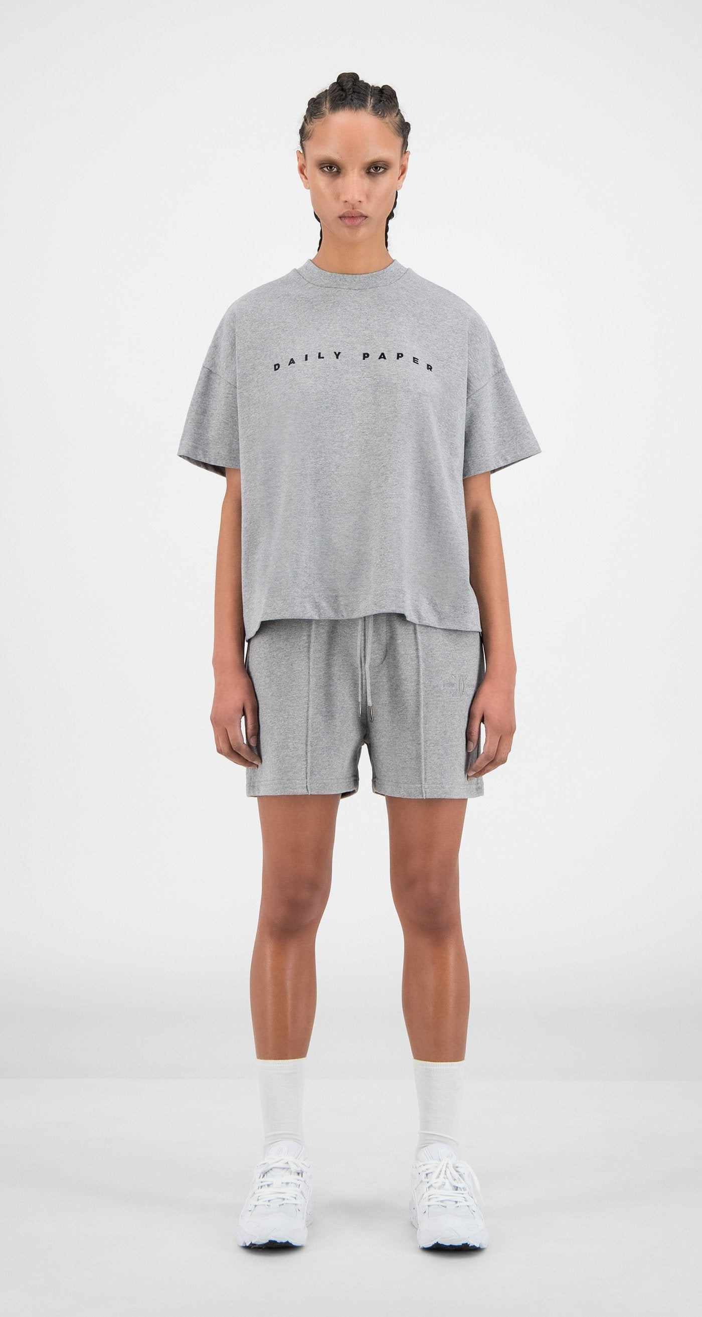 Daily Paper - Grey Hice T-Shirt - Women Front
