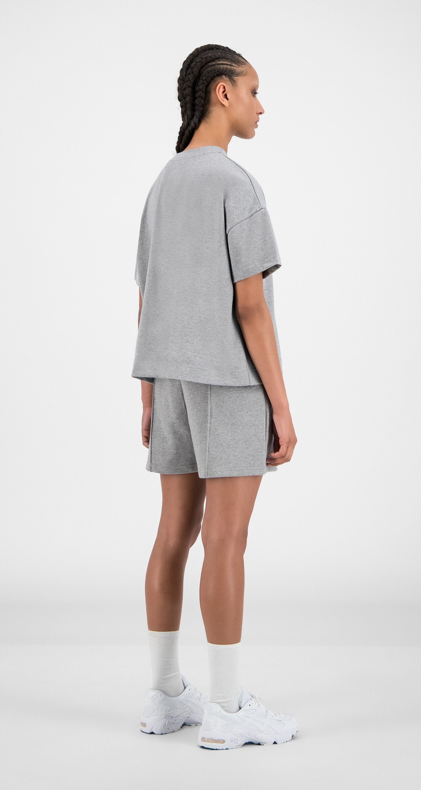 Daily Paper - Grey Hice T-Shirt - Women Rear